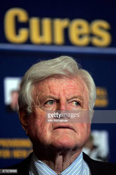 Sen. Ted Kennedy takes part in a press conference urging Senate Majority Leader Bill Frist to immediately take up the Stem Cell Research Enhancement...