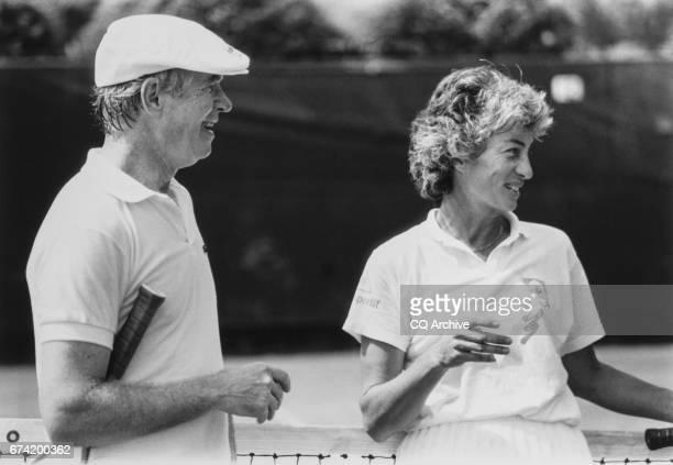 Sen Thad Cochran RMiss and Virginia Wade Tennis Player on May 25 1989