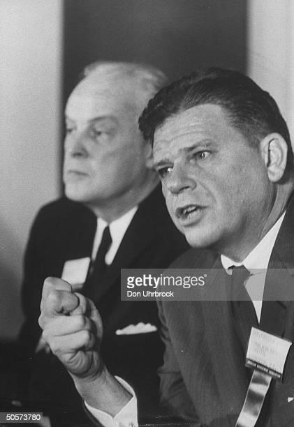 Sen Thruston B Morton during debate with Paul M Butler