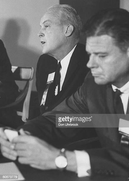 Sen Thruston B Morton during his debate with Paul M Butler
