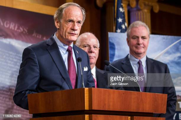 Sen. Tom Carper speaks during a news conference discussing the EPA's new affordable clean energy rule on June 19, 2019 in Washington, DC.The...