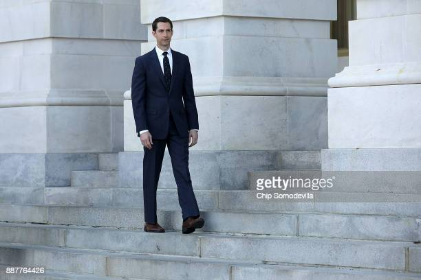 Sen Tom Cotton walks out of the US Capitol December 7 2017 in Washington DC Cotton's name was mentioned in recent news reports as a possible...
