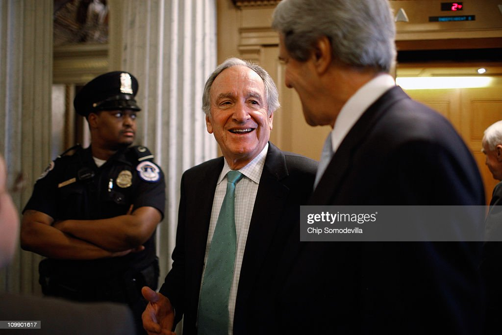 U.S. Sen. Tom Harkin (D-IA) (L) and Sen.John Kerry (D-MA) head for the floor before the Senate failed to pass legislation approved last month by the House that would cut $57 billion from the federal budget at the U.S. Capitol March 9, 2011 in Washington, DC. Lawmakers must agree to another spending bill by March 18 when the current temporary budgetary measure expires.