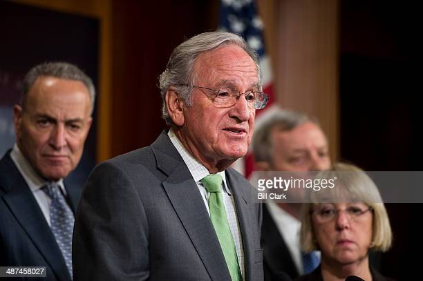 Sen Tom Harkin DIowa speaks at the news conference following the failed cloture vote on the minimum wage bill on Wednesday April 30 2014