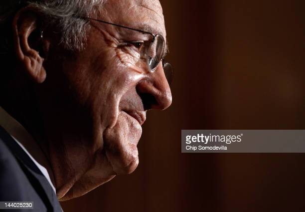 Sen Tom Harkin speaks during a news conference about the student loan bill currently being debated by US Senate at the US Capitol May 8 2012 in...