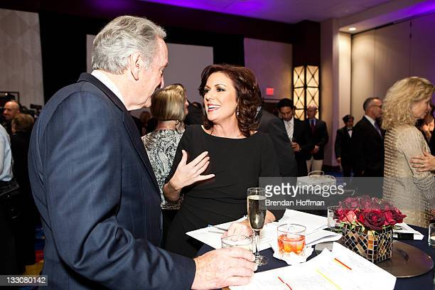 Sen Tom Harkin talks with CNN anchor Kyra Phillips at the inaugural Global Down Syndrome Foundation's Be Beautiful Be Yourself Gala on November 16...