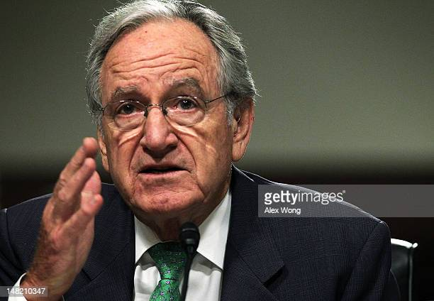 S Sen Tom Harkin testifies during a hearing before the Senate Foreign Relations Committee July 12 2012 on Capitol Hill in Washington DC The hearing...
