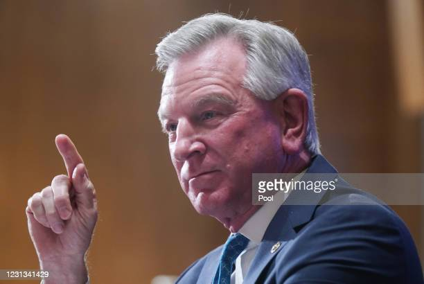 Sen. Tommy Tuberville questions Xavier Becerra, nominee for Secretary of Health and Human Services , at his confirmation hearing before the Senate...