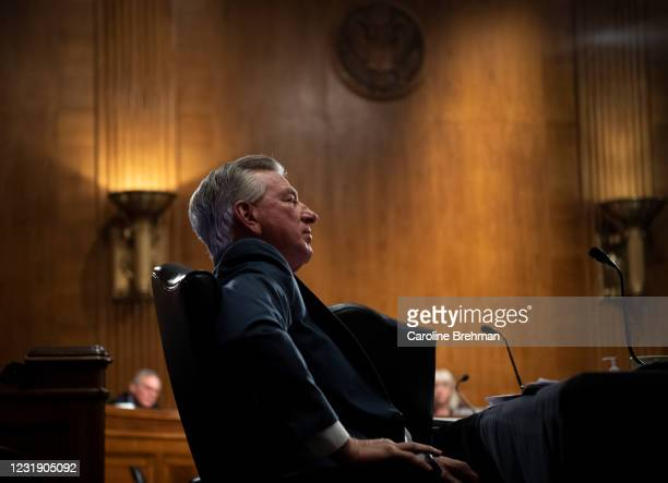 March 24: Sen. Tommy Tuberville, R-Ala., attends the nomination hearing of Cynthia Marten to be deputy Education secretary before the Senate Health,...