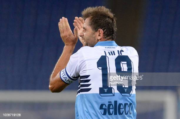 Senad Lulic during the Italian Serie A football match between SS Lazio and Frosinone at the Olympic Stadium in Rome on september 02 2018