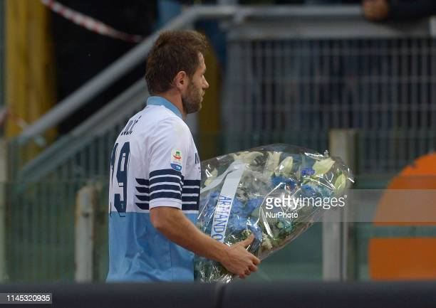 Senad Lulic during the Italian Serie A football match between SS Lazio and Bologna at the Olympic Stadium in Rome on may 20 2019