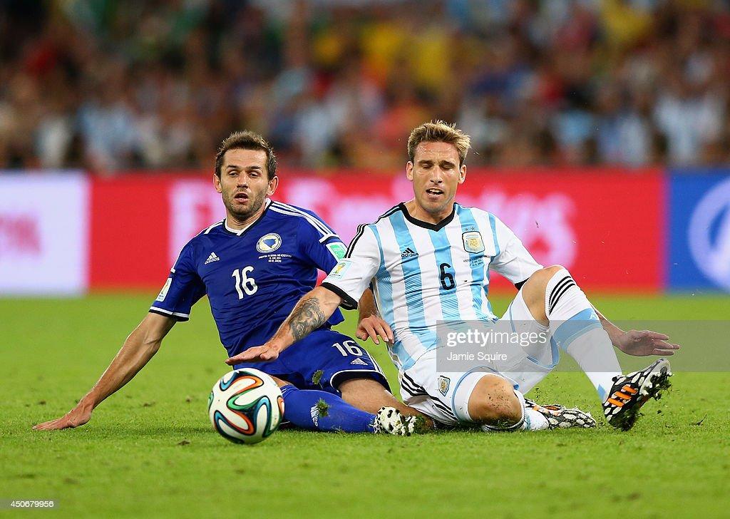 Argentina v Bosnia-Herzegovina: Group F - 2014 FIFA World Cup Brazil : News Photo