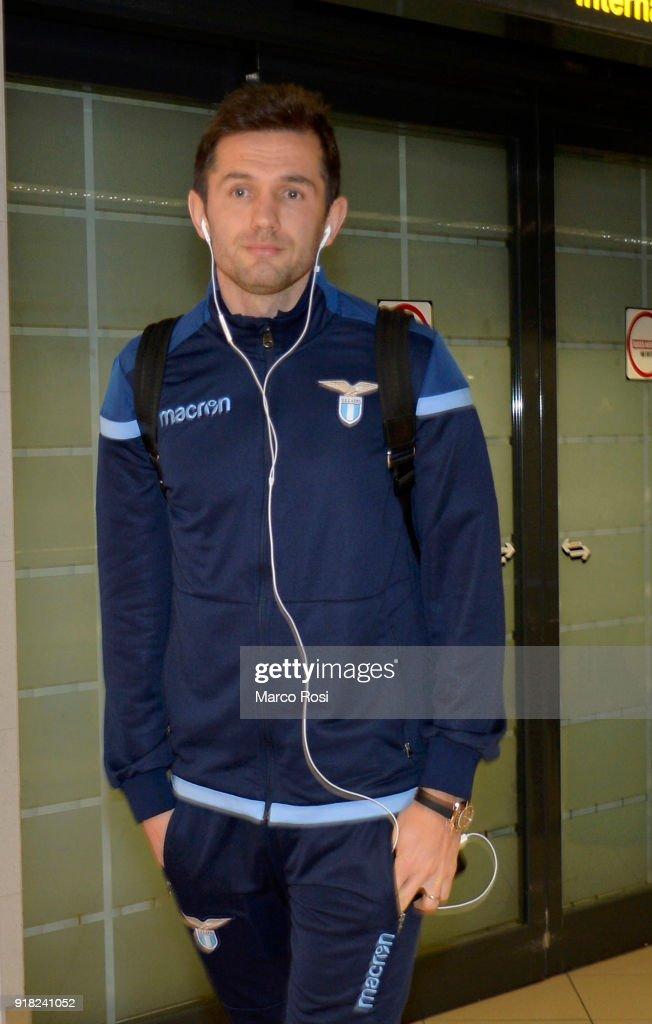 Senad Lulic of SS Lazio as SS Lazio travel to Bucharest on February 14, 2018 in Rome, Italy.