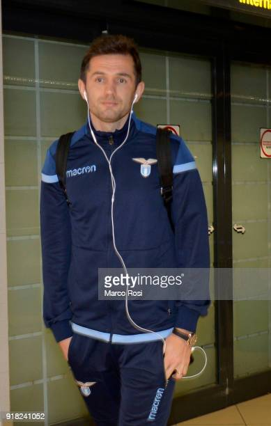 Senad Lulic of SS Lazio as SS Lazio travel to Bucharest on February 14 2018 in Rome Italy