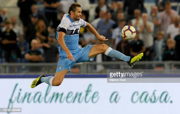 Senad Lulic of SS Lazio during the serie A match between SS Lazio and Frosinone Calcio at Stadio Olimpico on September 2 2018 in Rome Italy