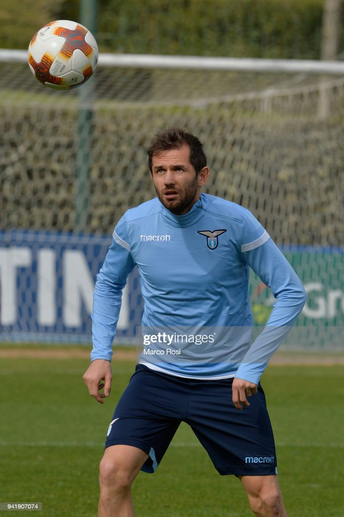 Senad Lulic of SS Lazio during the SS Lazio training session on April 4, 2018 in Rome, Italy.