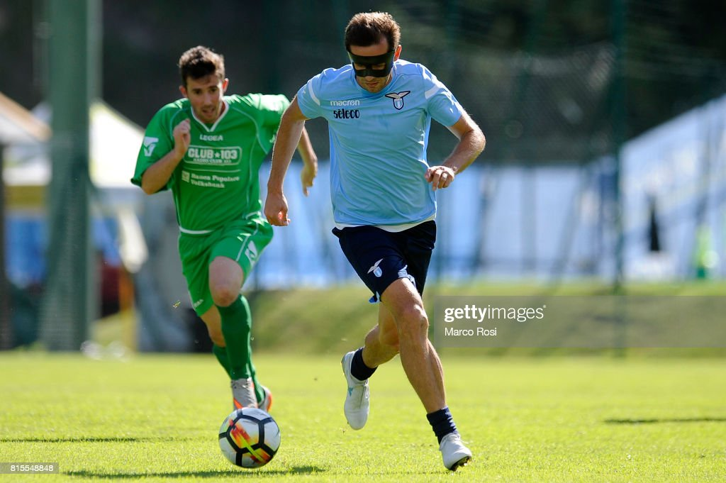 Senad Lulic of SS lazio in action during the Pre-Season Friendly match between SS Lazio and Reappresentativa Cadore on July 16, 2017 in Pieve di Cadore, Italy.