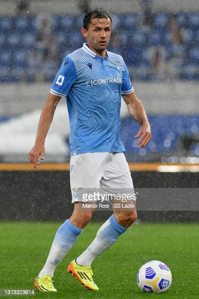 Senad Lulic of SS Lazio in action during the Serie A match between SS Lazio and Benevento Calcio at Stadio Olimpico on April 18, 2021 in Rome, Italy....