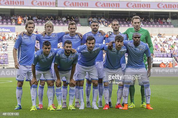 Senad Lulic of SS Lazio Roma Dusan Basta of SS Lazio Roma Miroslav Klose of SS Lazio Roma Mauriolo Dos Santos of SS Lazio Roma Santiago Gentiletti of...