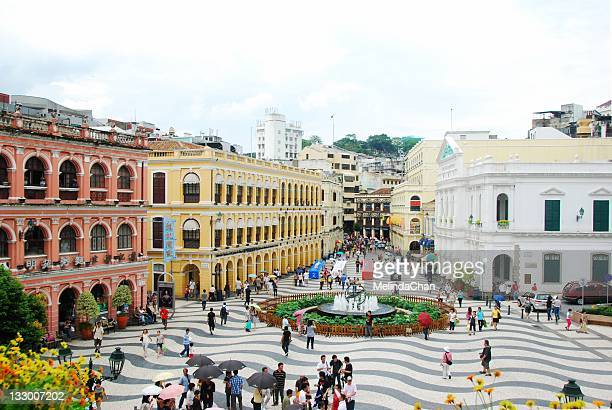senado square in macau - macao stock pictures, royalty-free photos & images