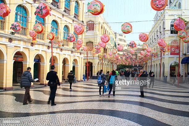 senado square,macau. - macao stock pictures, royalty-free photos & images