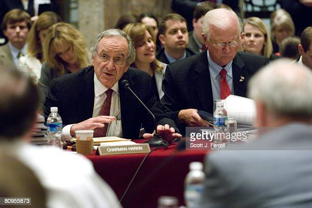 Senate Agriculture Chairman Tom Harkin DIowa and ranking member Saxby Chambliss RGa during the HouseSenate conference on the farm bill Lawmakers...