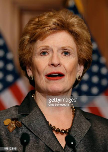 Senate Agriculture Nutrition and Forestry Committee Chairman Debbie Stabenow speaks during a news conference about the Agriculture Reform Food and...
