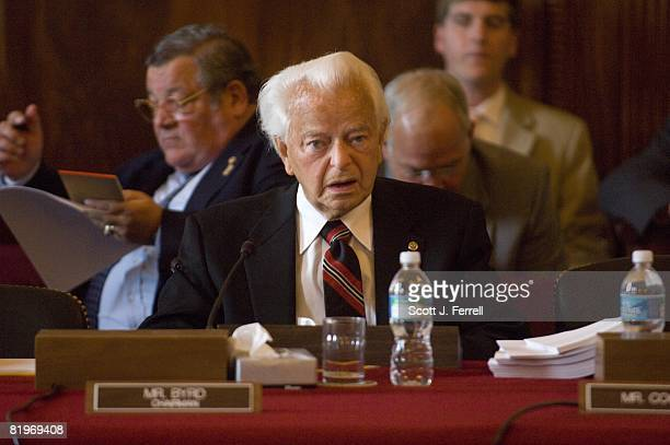 Senate Appropriations Chairman Robert C Byrd DWVa before the markup of fiscal 2009 military construction agriculture and stateforeign operations bills