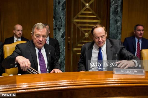 Senate Appropriations Subcommittee on Defense ranking member Sen Dick Durbin left and Senate Appropriations Subcommittee on Defense Chairman Richard...