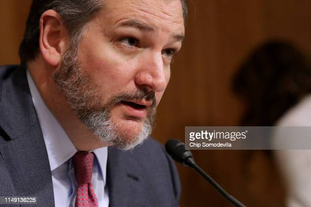 Senate Aviation and Space Subcommittee Chairman Ted Cruz questions witnesses during a hearing in the Dirksen Senate Office Building on Capitol Hill...