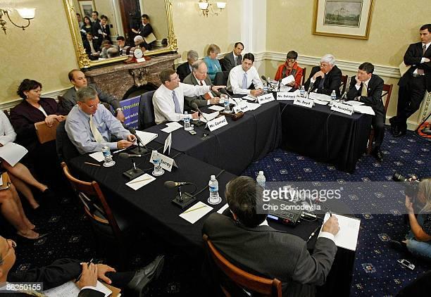 Senate Budget Committee ranking member Judd Gregg Chairman Kent Conrad House Budget Committee Chairman John Spratt ranking member Rep Paul Ryan and...