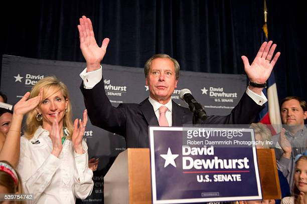 US Senate candidate David Dewhurst takes the podium to concede a bitterly fought Republican race with Ted Cruz to replace outgoing Sen Kay Bailey...
