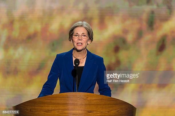 Senate Candidate Elizabeth Warren speaks to the Democratic National Convention in Charlotte NC