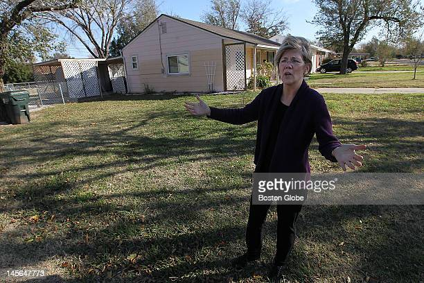 S Senate candidate Elizabeth Warren visited the house where she lived from when she was born in 1949 until the family moved to Oklahoma City when she...