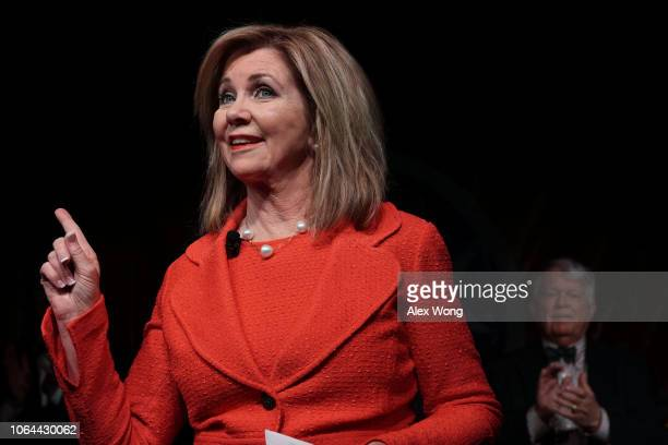 S Senate candidate for Tennessee Rep Marsha Blackburn speaks to supporters during an election night party November 6 2018 in Franklin Tennessee Rep...