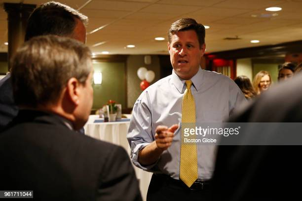 S Senate candidate Geoff Diehl talks with supporters at a fundraiser in Waltham MA on May 21 2018