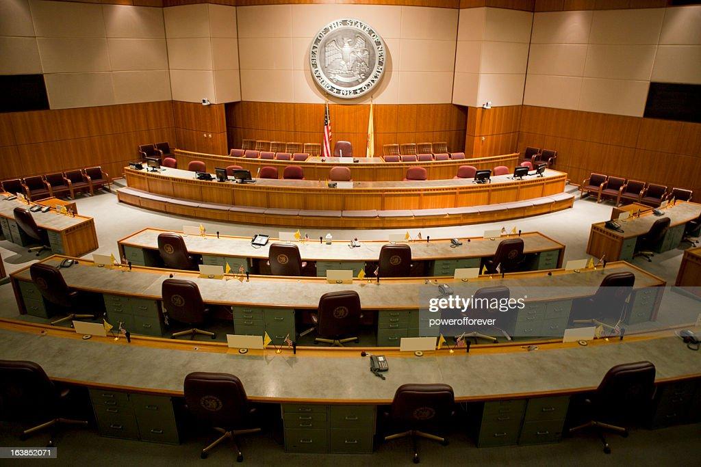 Senate Chamber New Mexico State Capitol : Stock Photo
