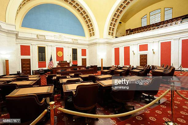 senate chamber of west virginia - charleston west virginia stock photos and pictures