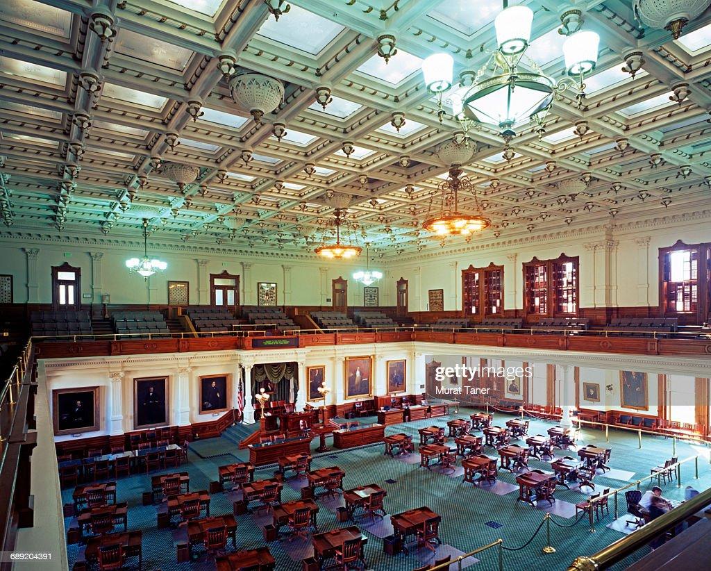 Senate Chamber, Texas State Capitol : Stock Photo