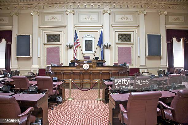 senate chamber, 190406, virginia capitol, richmond, va, u.s.a. - congress stock pictures, royalty-free photos & images