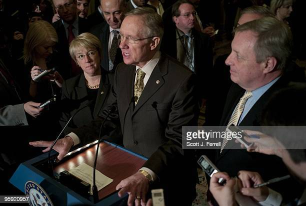Senate Democratic Conference Secretary Patty Murray DWash Senate Democratic Caucus Vice Chairman Charles E Schumer DNY Senate Majority Leader Harry...