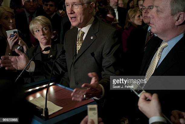 Senate Democratic Conference Secretary Patty Murray DWash Senate Majority Leader Harry Reid DNev DSCC Chairman Robert Menendez DNJ and Senate...