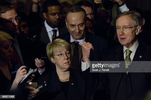 Senate Democratic Conference Secretary Patty Murray DWash Senate Democratic Caucus Vice Chairman Charles E Schumer DNY and Senate Majority Leader...