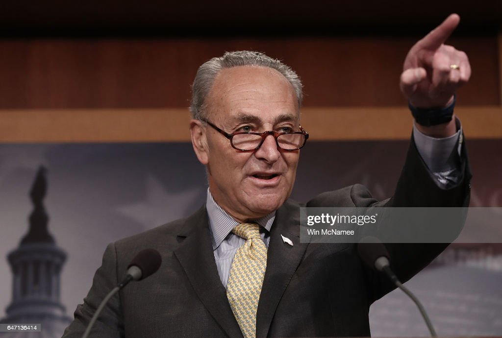 Senate Dem. Leader Chuck Schumer Discusses Integrity Of Investigation Into Russian Interference In Election : News Photo