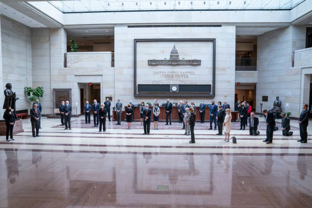 DC: Senate Democratic Caucus Holds 8 Minutes 46 Seconds Of Silence At U.S. Capitol