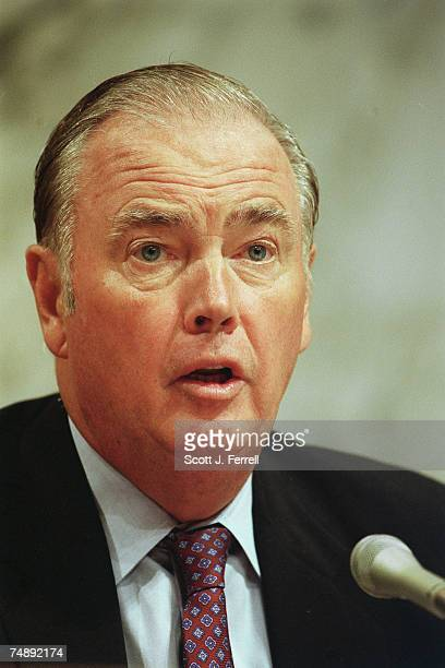 SECURITYADMINISTRATION Senate Energy and Natural Resources Chairman Frank H Murkowski RAlaska during a joint hearing with Senate Governmental Affairs...