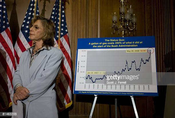 Senate Environment Public Works Chairwoman Barbara Boxer DCalif during a news conference as Senate Republicans kept up their parliamentary protests...