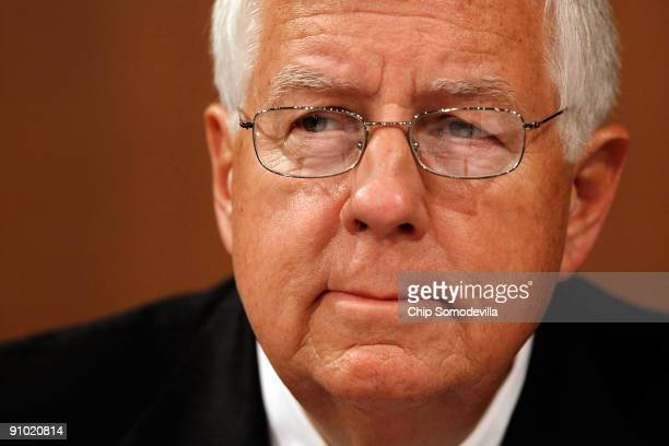 Senate Finance Committee member Mike Enzi participates in a mark up session on the health care reform legislation on Capitol Hill September 22 2009...