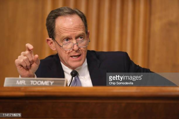Senate Finance Committee member Sen. Pat Toomey questions Federal Internal Revenue Service Commissioner Charles Rettig during a hearing in the...