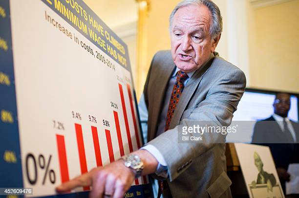 Senate Health Education Labor and Pensions Chairman Tom Harkin DIowa speaks during a news conference to call on Congress to raise the national...
